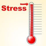 Thermometer Stress Means Tension Celsius And Thermostat. Thermometer Stress Indicating Temperature Overload And Pressured Royalty Free Stock Images