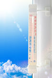 Thermometer summer Stock Image