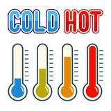 Thermometer Symbol Hot And Cold Royalty Free Stock Image