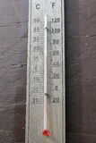 Thermometer. Thermometer to measure the temperature of the climate royalty free stock photos