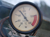 Thermometer traditional rural smokehouse Stock Images