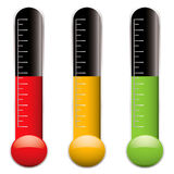 Thermometer variation Stock Photography