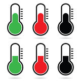 Thermometer vector icon art illustration Stock Image