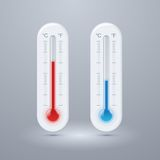 Thermometer vector icons. Royalty Free Stock Photos