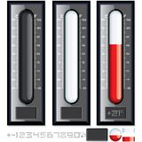 Thermometer Vector Kit. Customizable Illustration. This is file of EPS8 format Royalty Free Stock Images