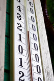 Thermometer on the wall Stock Images