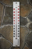 Thermometer on the wall Royalty Free Stock Image