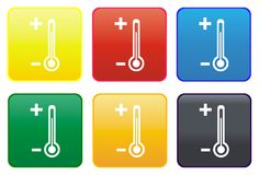 Thermometer web button Royalty Free Stock Photography