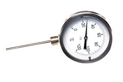 Thermometer on white Stock Images