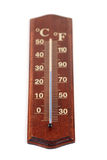 Thermometer on white background - close-up Royalty Free Stock Image