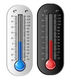 Thermometer white and black. Vector Royalty Free Stock Images
