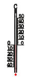 Thermometer with a zero mark Stock Photography