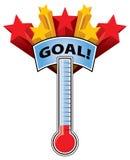 Thermometer-Ziel Lizenzfreie Stockfotos