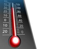 Thermometerillustration trennte auf Weiß Lizenzfreies Stockbild