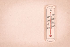 Thermometermeting 30 graad Royalty-vrije Stock Afbeeldingen