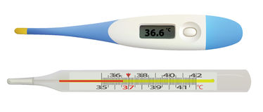 Thermometers. Royalty Free Stock Photo