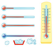 Thermometers. A serie of  on white background Royalty Free Stock Image