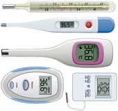 Thermometers of different types Stock Image