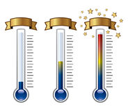 thermometers, vector  Royalty Free Stock Image