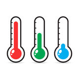 Thermometers icon with different levels. Stock Images