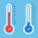 Thermometers icon. Royalty Free Stock Photo