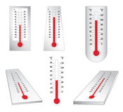 Thermometers -  set - vector Stock Image