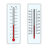 Thermometers  Vector. Isolated on white background Stock Photo