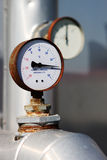Thermometersonde/manometer Stock Foto's