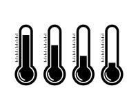 Thermometr-Ikonen stock abbildung
