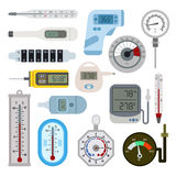 Thermometrs vector set. Royalty Free Stock Image