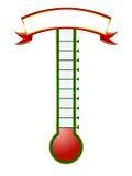 Thermomètre de but Photo libre de droits
