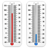 Thermomètre standard Photos stock