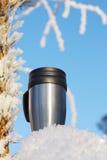 thermos κουπών καφέ στοκ φωτογραφία