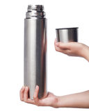 Thermos bottle product shot Royalty Free Stock Photos