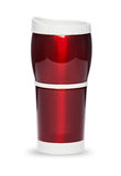 Thermos bottle travel mug assorted colors Royalty Free Stock Image