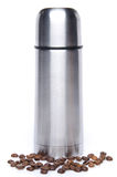A thermos with coffee beans Stock Photography