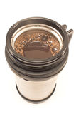 Thermos with coffee drink  isolated Stock Photo