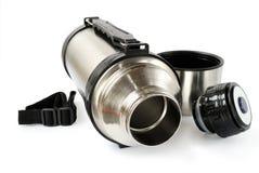 Thermos en acier Photographie stock