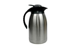 Thermos flask. Isolated on the white background Stock Photo