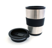 Thermos mug and lid Stock Photos