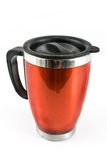Thermos rojo para el café Imágenes de archivo libres de regalías