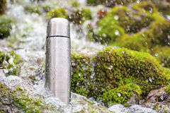 Thermos Travel Flask Stock Photo