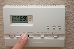 Thermostat Stockbild