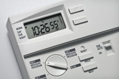 Thermostat 55 Grad Hitze- Lizenzfreie Stockfotos