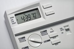 Thermostat 70 Grad kühlen ab Lizenzfreie Stockbilder