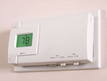Thermostat 78 F angle view Royalty Free Stock Images
