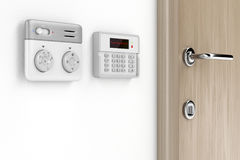 Thermostat and alarm controls Royalty Free Stock Image