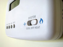 Thermostat cool heat switch Royalty Free Stock Image