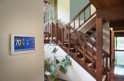 Thermostat d'intérieur de maison Photographie stock