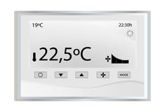 Thermostat de la température Photos libres de droits